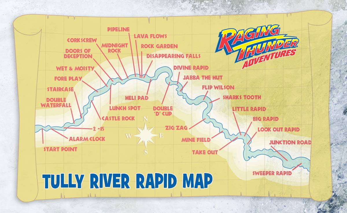 Tully River Rapid Map